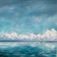 Sail On By - Contemporary Seascape Painting by Senja Brendon