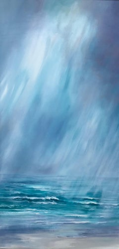 Unveiled - Contemporary Seascape Painting by Senja Brendon