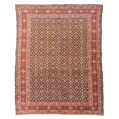 Sennhe Wool Rug, Red, Blue and Yellow Colors