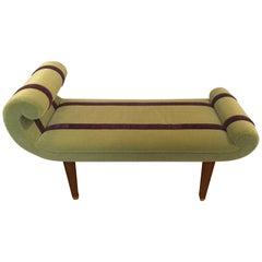 Sensational Chic Custom Designed Green Mohair Bench