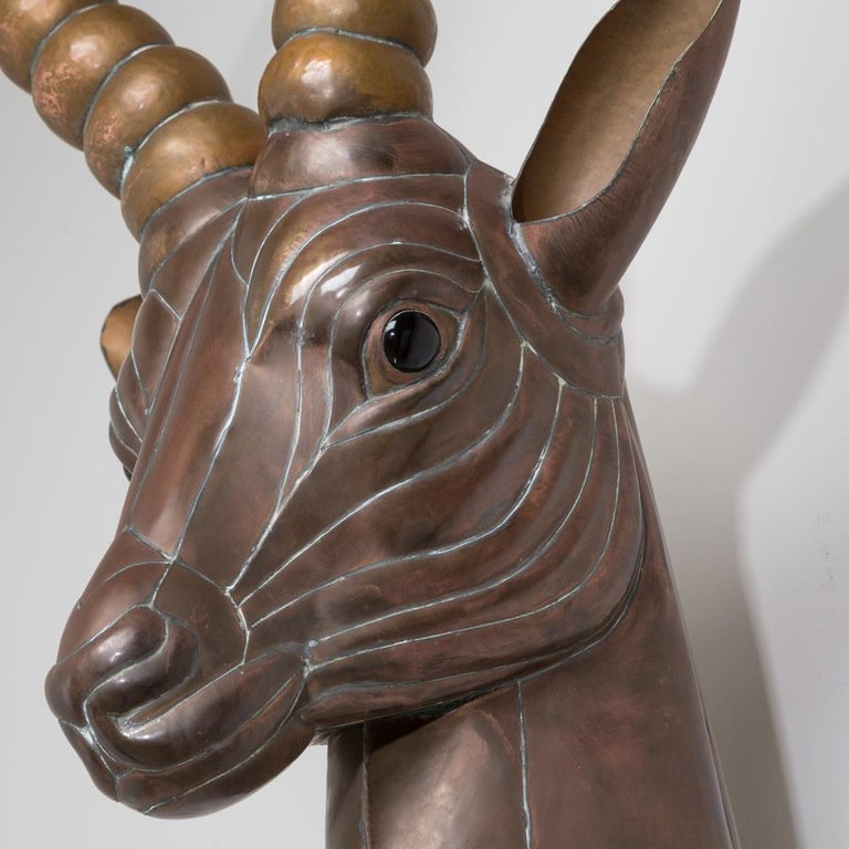 Mexican Sensational Copper Antelope by Sergio Bustamante, 1970s For Sale