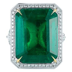 Sensational Emerald and Diamond Ring by Takat