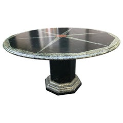 Sensational English Faux Painted Center or Round Dining Table