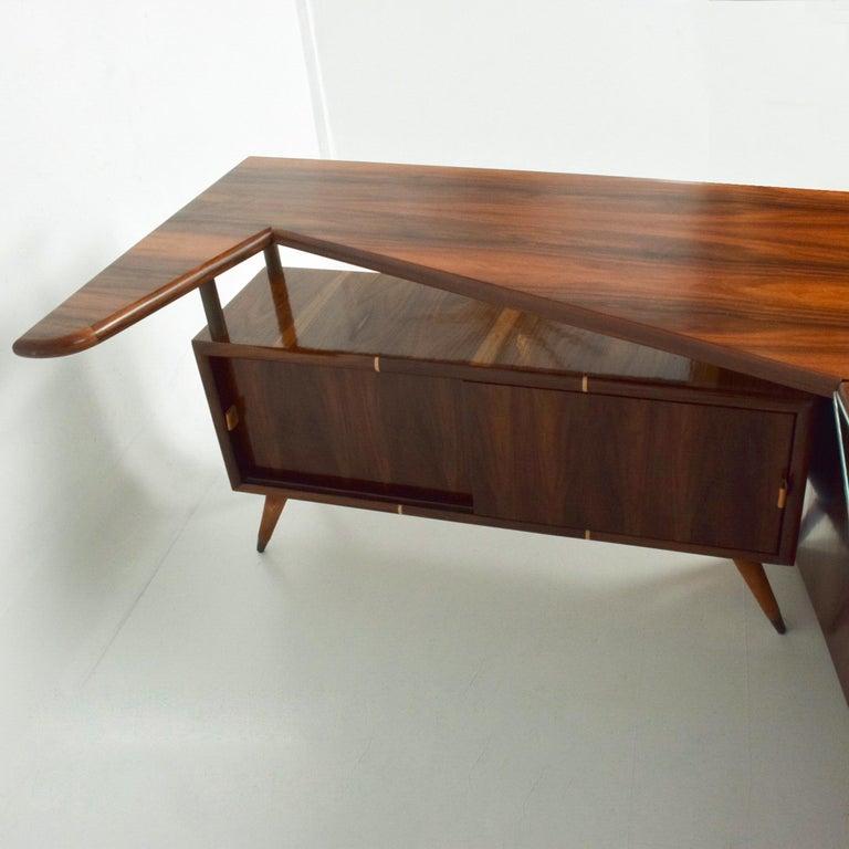 Sensational Frank Kyle & Pepe Mendoza Exotic Desk Dry Bar Mexico Modernism 1950s For Sale 4