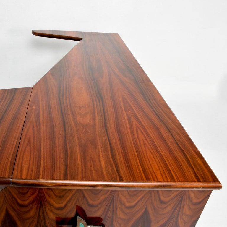 Mid-Century Modern Sensational Frank Kyle & Pepe Mendoza Exotic Desk Dry Bar Mexico Modernism 1950s For Sale