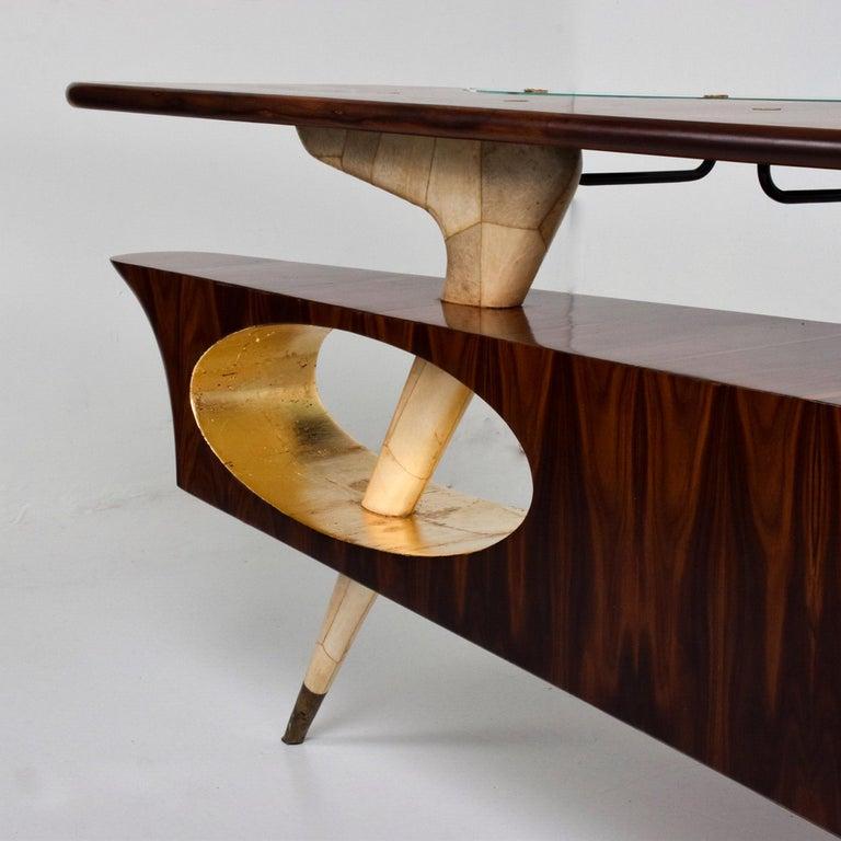 Mid-20th Century Sensational Frank Kyle & Pepe Mendoza Exotic Desk Dry Bar Mexico Modernism 1950s For Sale