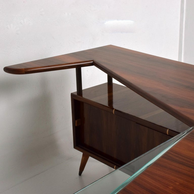 Sensational Frank Kyle & Pepe Mendoza Exotic Desk Dry Bar Mexico Modernism 1950s For Sale 1