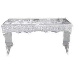 Sensational Lucite Sofa Table