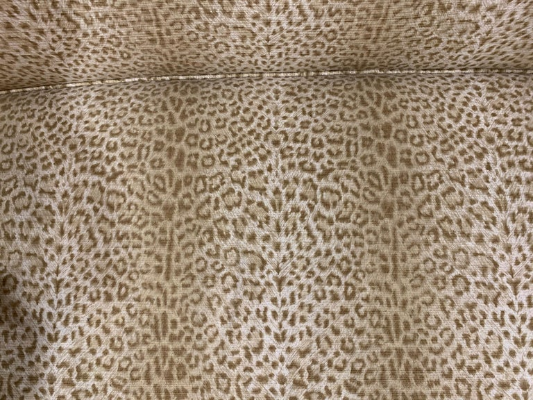 Upholstery Sensational Mahogany and Animal Print Upholstered Sofa For Sale