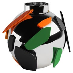 Senska Bauhaus Ceramic Vase, Modern, Ornamental Decorative Design by ACH