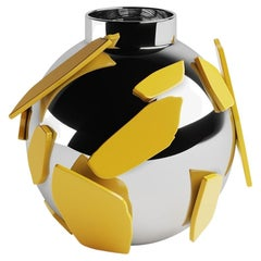 Senska Decorative Ceramic Vase, Bauhaus Unique Inspiration with an Artistic Vibe