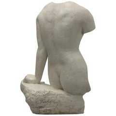 Sensual Nude Torso Sculpture by Charles Rudy
