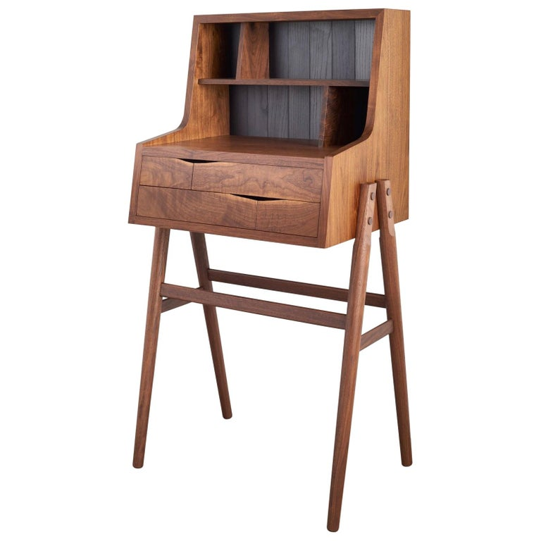 Sentry Desk Handcrafted Walnut Standing Desk For Sale At 1stdibs