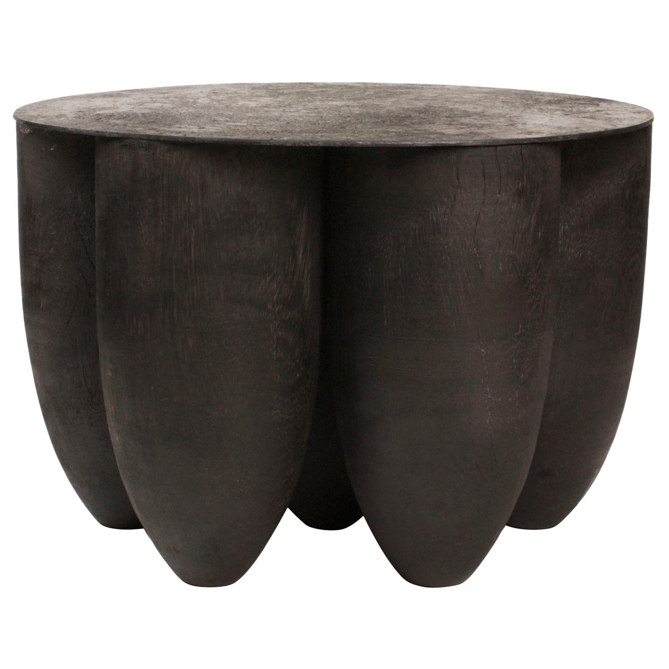 Senufo Coffee Table in Iroko Wood by Arno Declercq