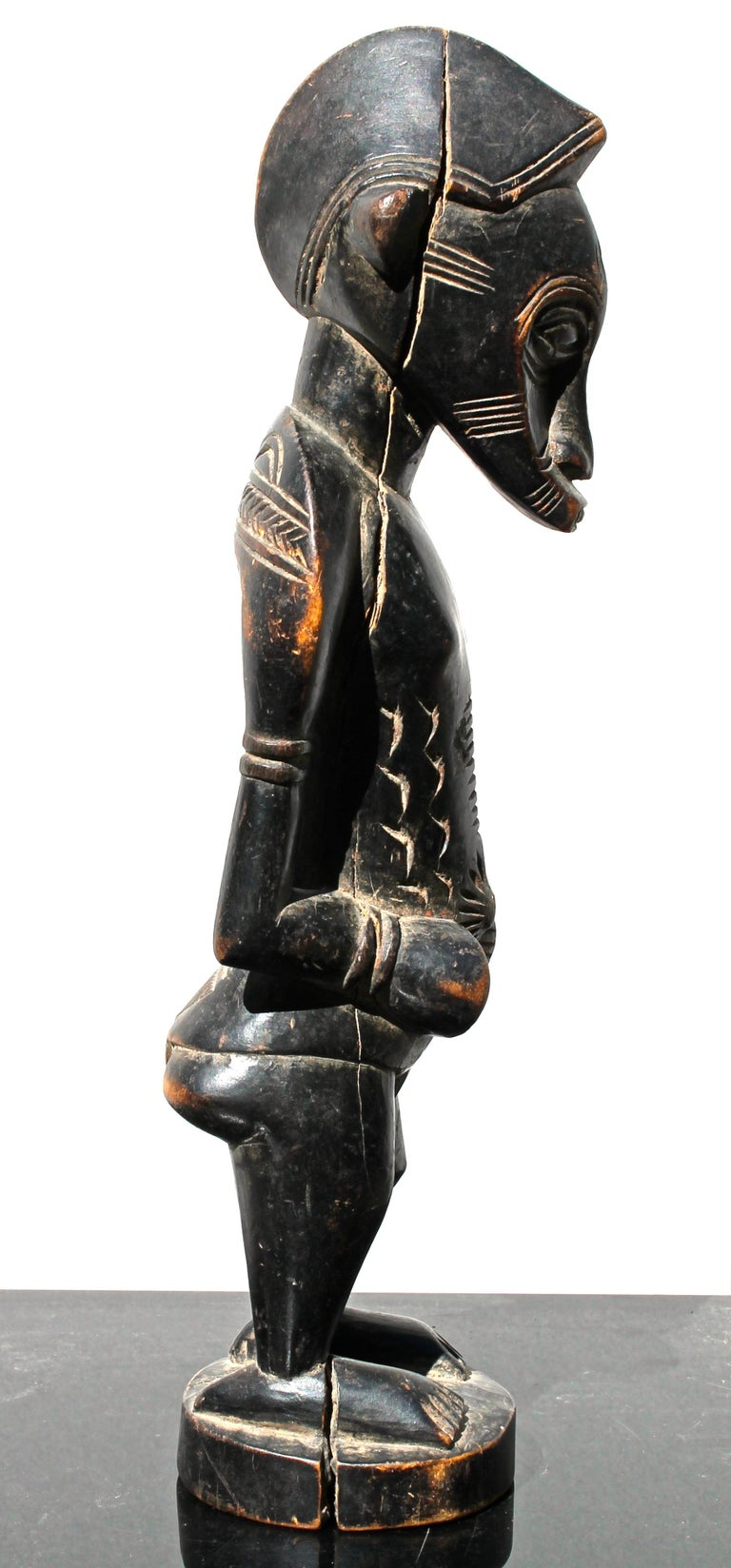 Carved Senufo Figure African Sculpture For Sale