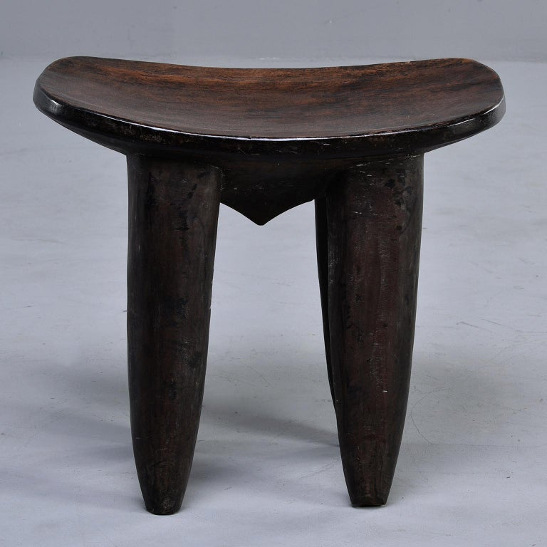 Wood Senufo Hand Carved Side Table or Stool