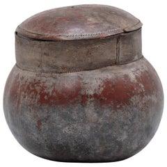 Senufo Lidded Gourd Vessel