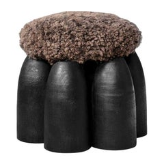 Senufo Ottoman, Unique Signed Stool, Arno Declercq