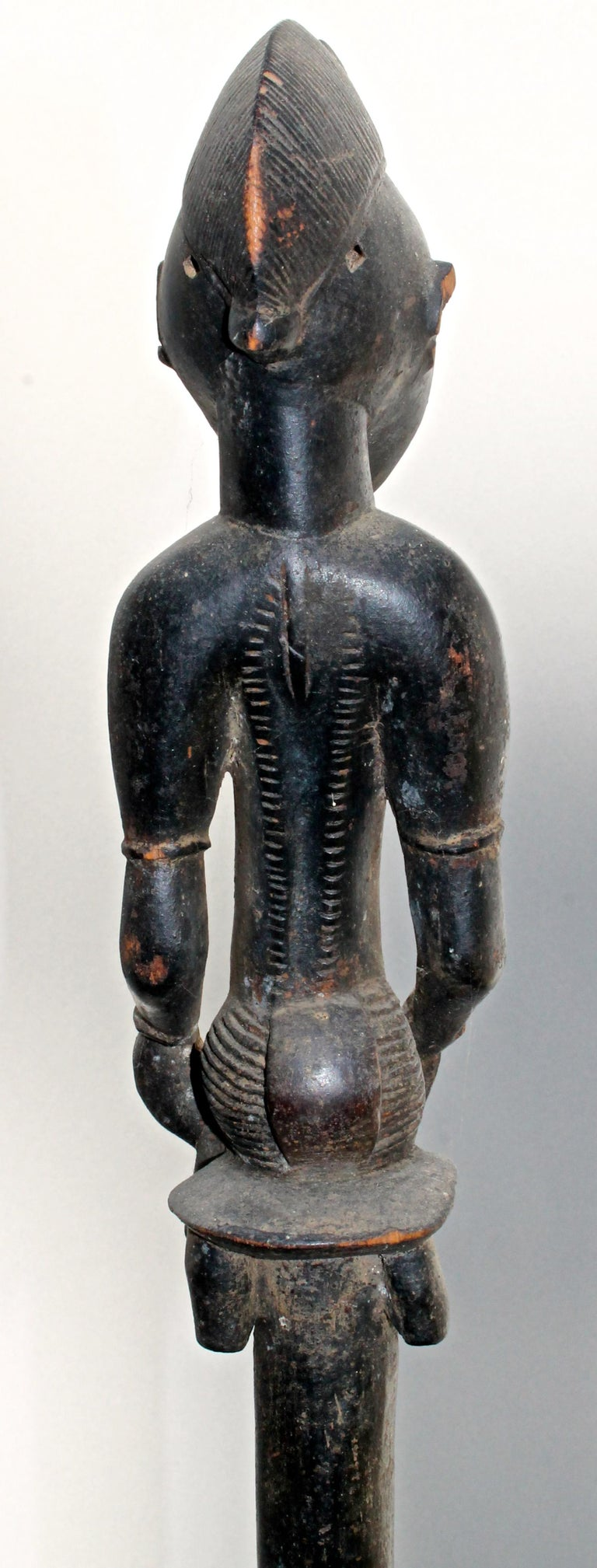 Senufo Staff Sotheby's Provenance In Good Condition For Sale In Sharon, CT