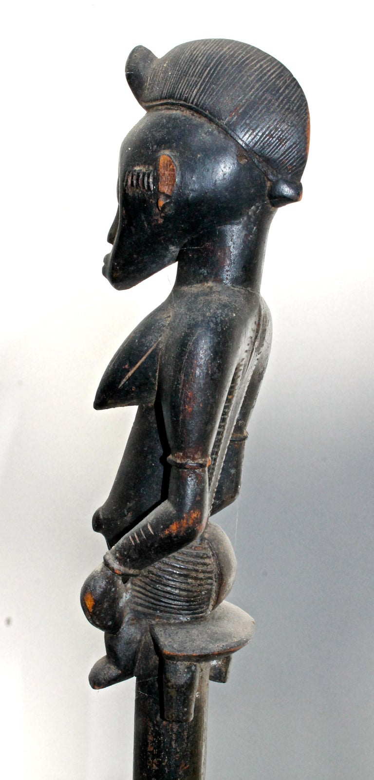 20th Century Senufo Staff Sotheby's Provenance For Sale