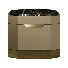 Senza Fine Bedside Table Marble Top