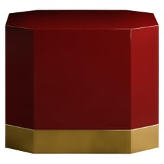 Senza Fine High Coffee Table Umber Brass