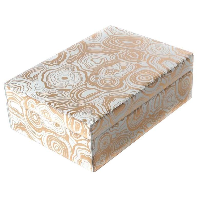 Serafina Box in Natural Ceramic by Curatedkravet For Sale