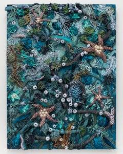 Underwater Ocean Seascape Textural Painting by Seren Morey - Aquafur Dreams