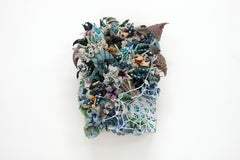 Floral Abstraction Sculptural Painting with Spiderweb by Seren Morey - Ransack