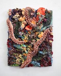 Underwater Ocean Seascape TexturalPainting with Octopus by Seren Morey - Zozimos