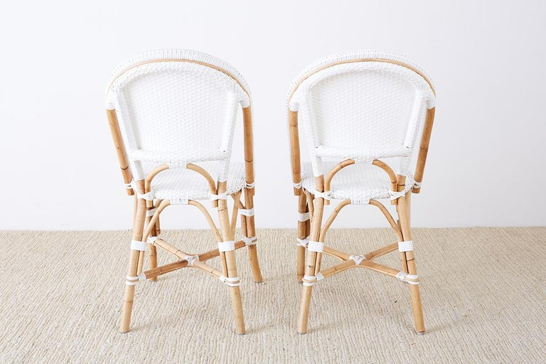 Serena and Lily Bamboo Riviera Rattan French Bistro Chairs For Sale 8
