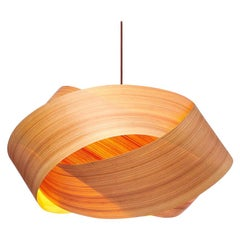 "SERENE Grande Cypress Wood 34"" Chandelier Pendant"