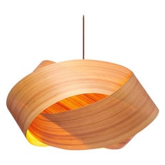 Serene Custom Cypress Wood Drum Chandelier Pendant
