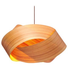 Serene Cypress Wood Chandelier Pendant