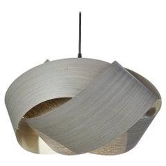 Organic modern wood chandelier pendant
