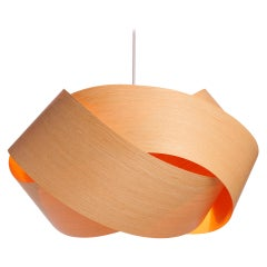 "Serene-Organic Modern Sustainable Wood Veneer 14"" Pendant"