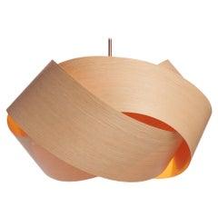 """Scandinavian Design natural wood veneer 27"""" chandelier"""