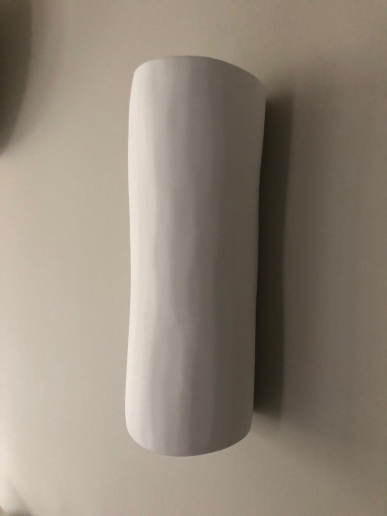 Serenity Contemporary Wall Sconce, Wall Light, White Plaster, Hannah Woodhouse In New Condition For Sale In London, GB