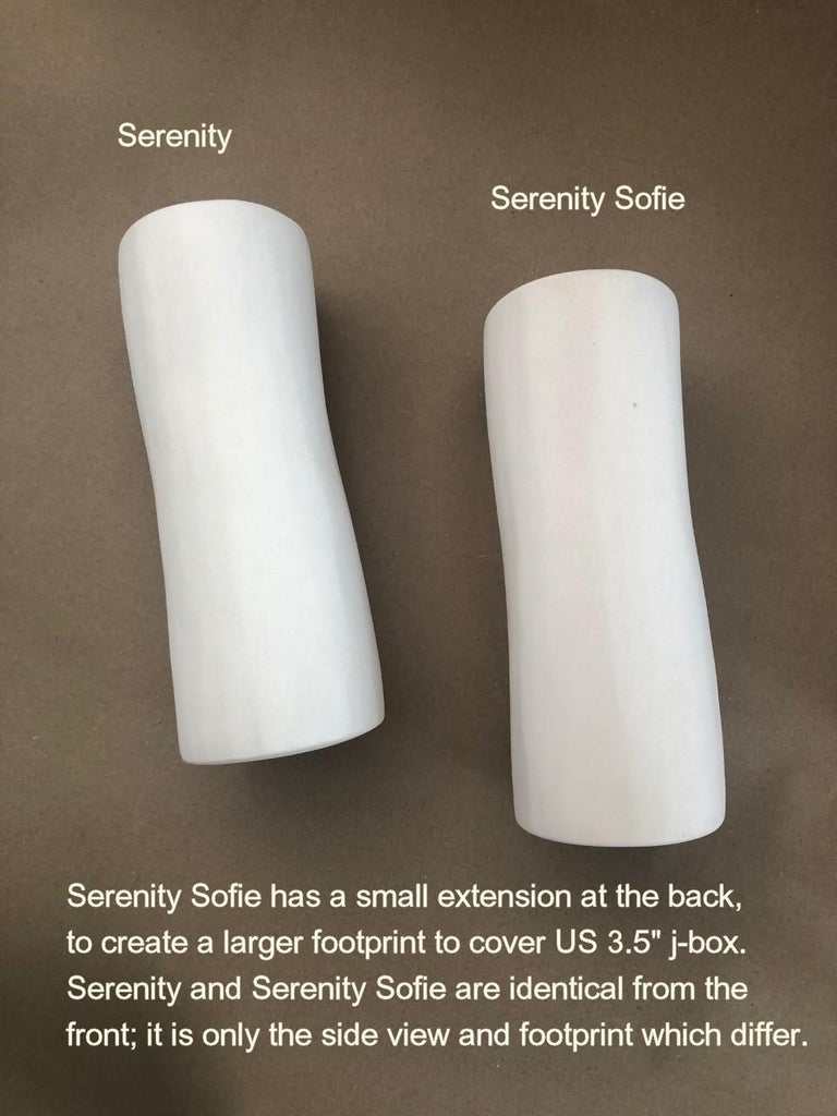 Serenity Contemporary Wall Sconce, Wall Light, White Plaster, Hannah Woodhouse For Sale 6