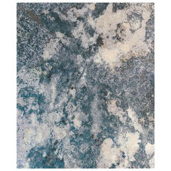 Serenity Lake - Designer Contemporary Hand Knotted Wool Silk Rug