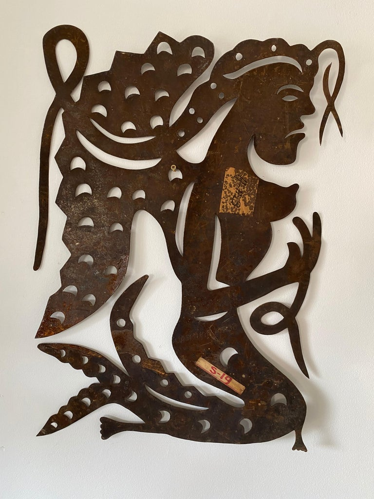 20th Century Serge Jolimeau, 'Siren', an Outsider Folk Art Haitian Wall Art Plaque For Sale