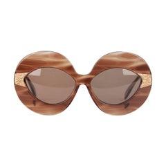 SERGE KIRCHHOFER Vintage Rare 70s Oversize Sunglasses mod. 469 Nos