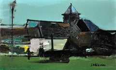 Essai 18 Ml. Modern French. Mid-20th Century. Original Landscape Oil Painting.