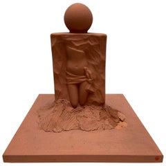 Serge Mansau, Female Body Sculpture in Terracotta, 1990