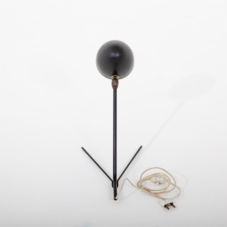Metal Serge Mouille, Cocotte Table Lamp, France, 1957 For Sale
