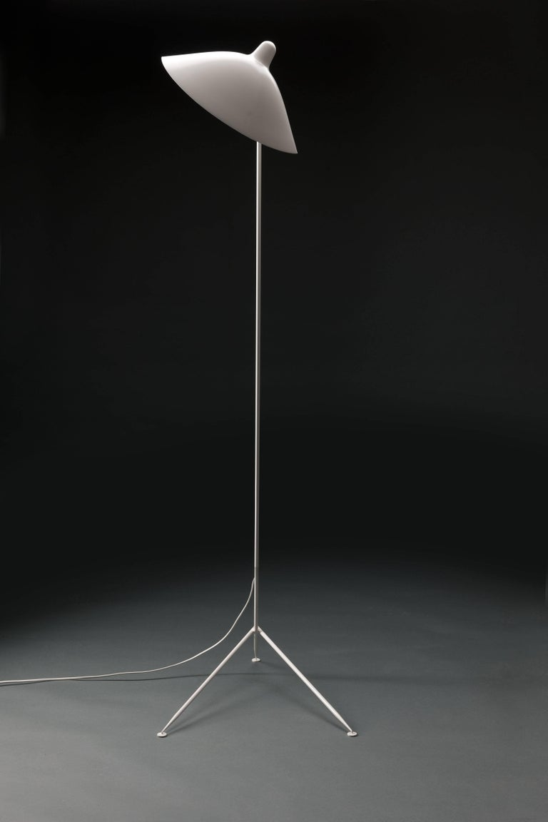 French Serge Mouille 'Lampadaire Droit' Floor Lamp 'Numbered & Certificate' For Sale
