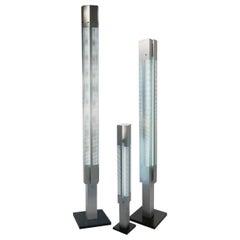 Serge Mouille Mid-Century Modern Aluminium Signal Column Floor Lamp Set