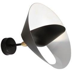 Serge Mouille Mid-Century Modern Black Saturn Wall Lamp