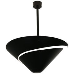 Serge Mouille Mid-Century Modern Black Small Snail Ceiling Wall Lamp