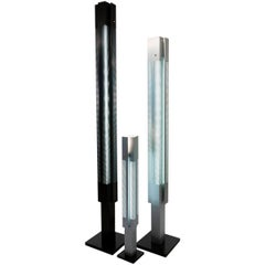 Serge Mouille Mid-Century Modern Signal Column Floor Lamp Set